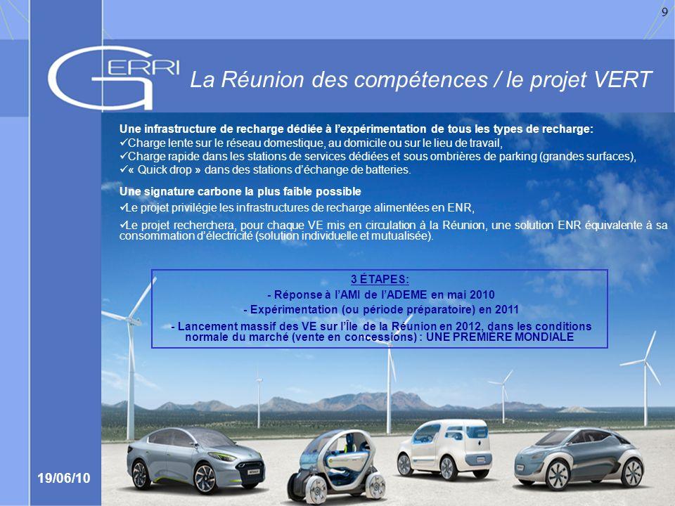 La Réunion des compétences / le projet VERT