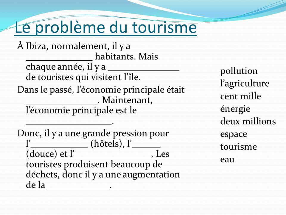 Le problème du tourisme