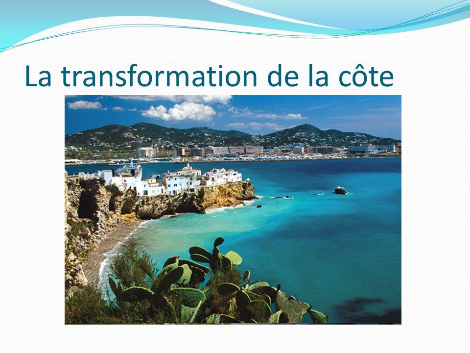 La transformation de la côte