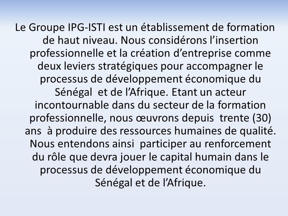 Le Groupe IPG-ISTI est un établissement de formation de haut niveau