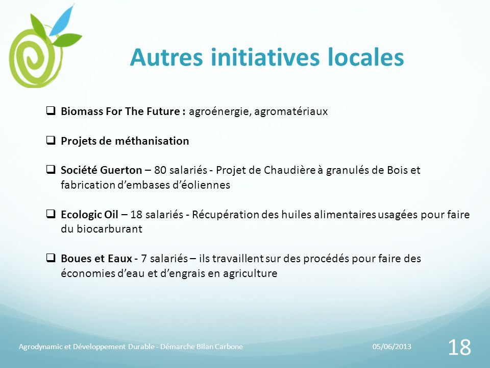 Autres initiatives locales