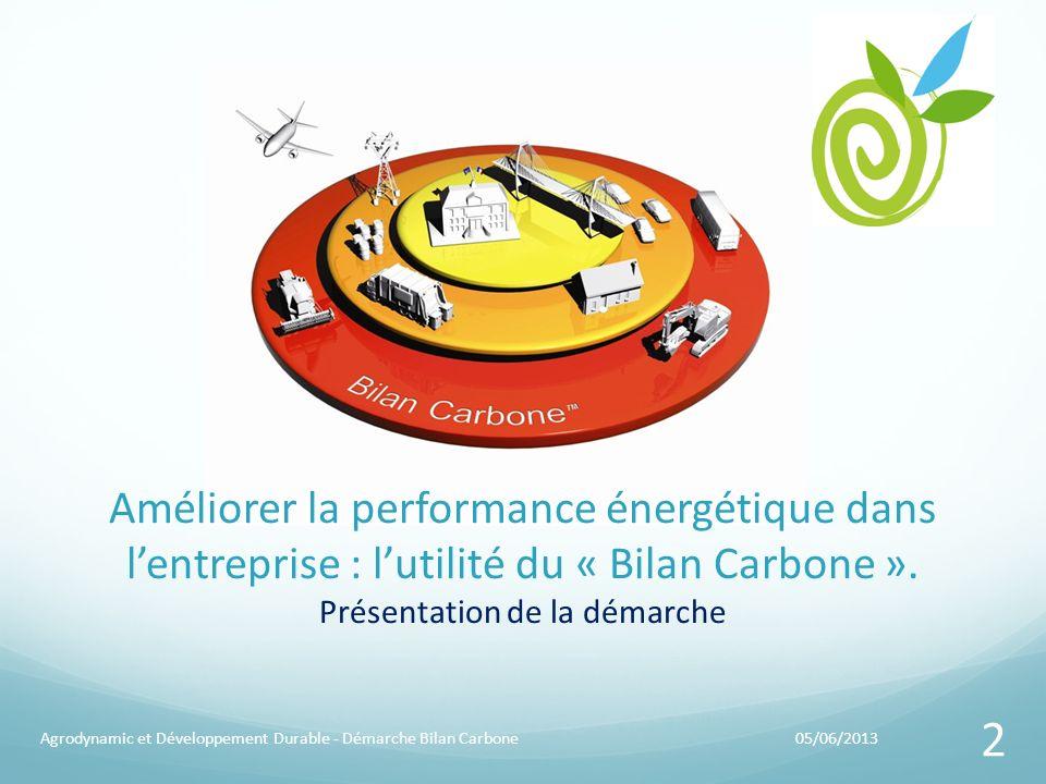 Améliorer la performance énergétique dans l'entreprise : l'utilité du « Bilan Carbone ». Présentation de la démarche