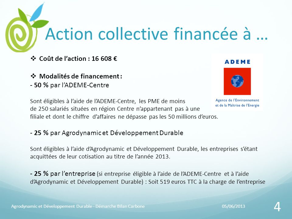 Action collective financée à …