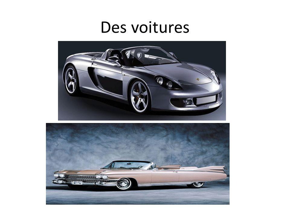 Des voitures