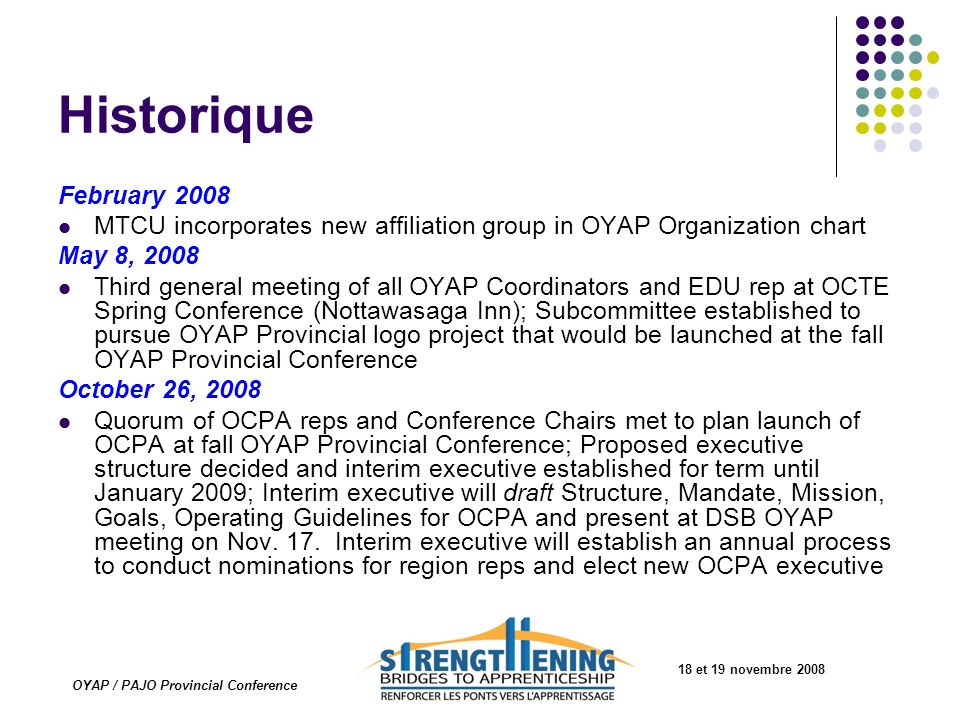 OYAP / PAJO Provincial Conference