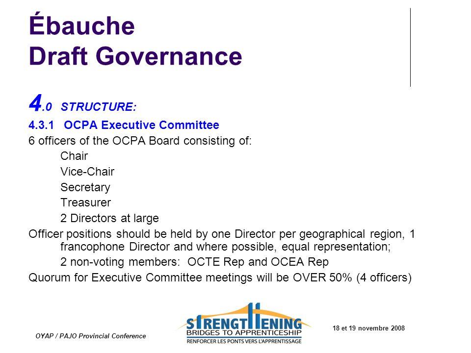 Ébauche Draft Governance