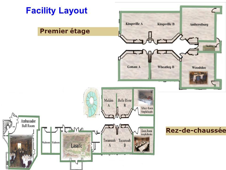 Facility Layout Premier étage Rez-de-chaussée