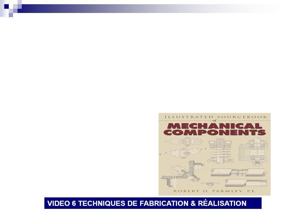 VIDEO 6 TECHNIQUES DE FABRICATION & RÉALISATION