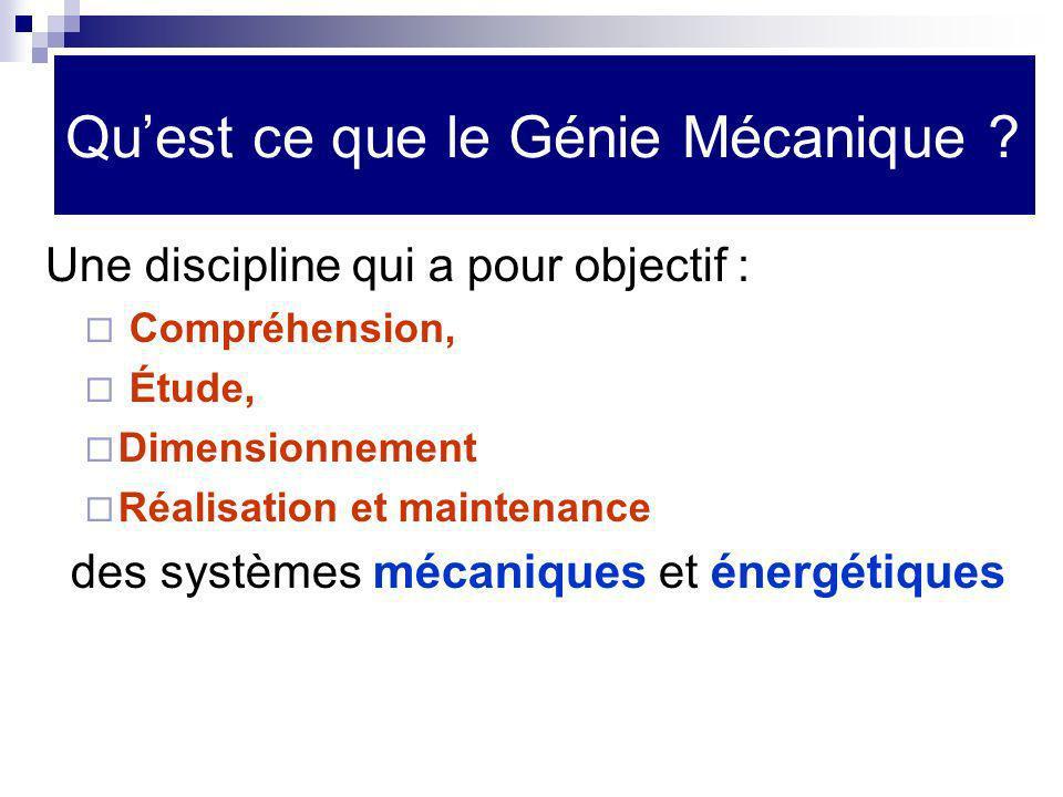 Qu'est ce que le Génie Mécanique