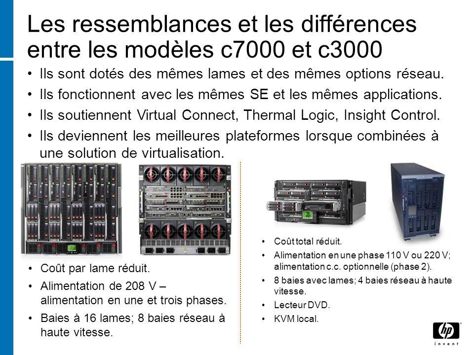 Les ressemblances et les différences entre les modèles c7000 et c3000