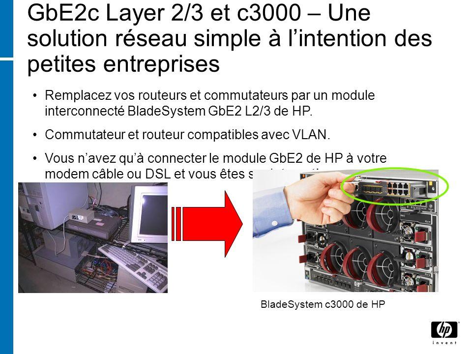 GbE2c Layer 2/3 et c3000 – Une solution réseau simple à l'intention des petites entreprises
