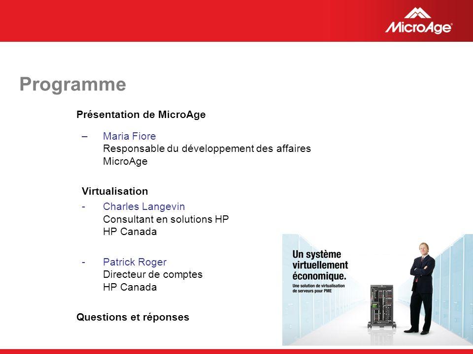 Programme Présentation de MicroAge