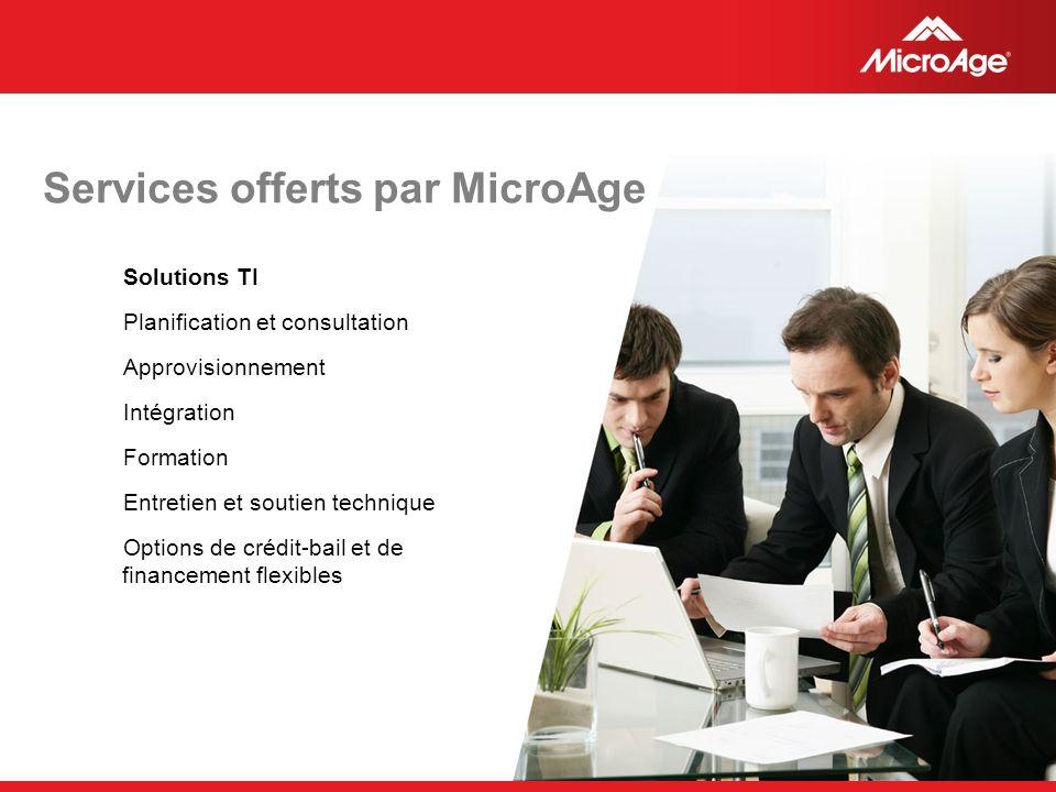 Services offerts par MicroAge