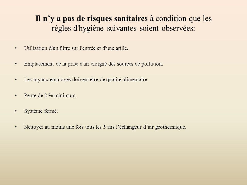 Il n'y a pas de risques sanitaires à condition que les règles d hygiène suivantes soient observées: