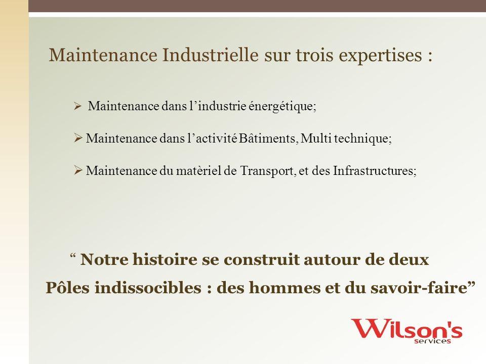 Maintenance Industrielle sur trois expertises :
