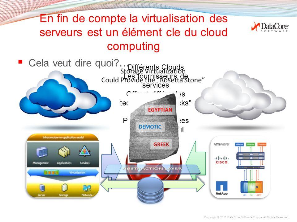 En fin de compte la virtualisation des serveurs est un élément cle du cloud computing