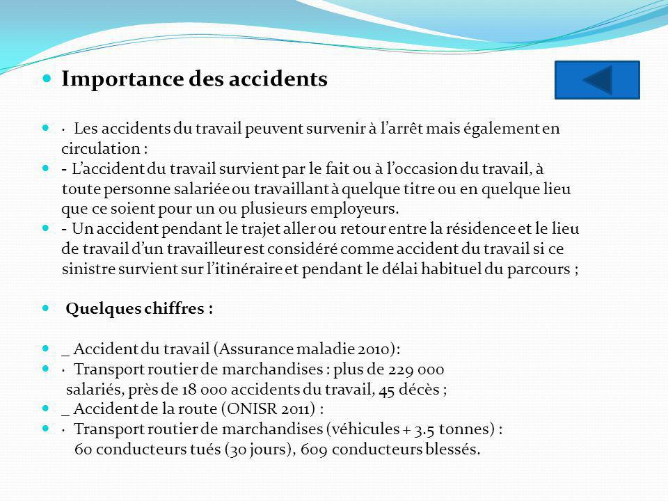 Importance des accidents