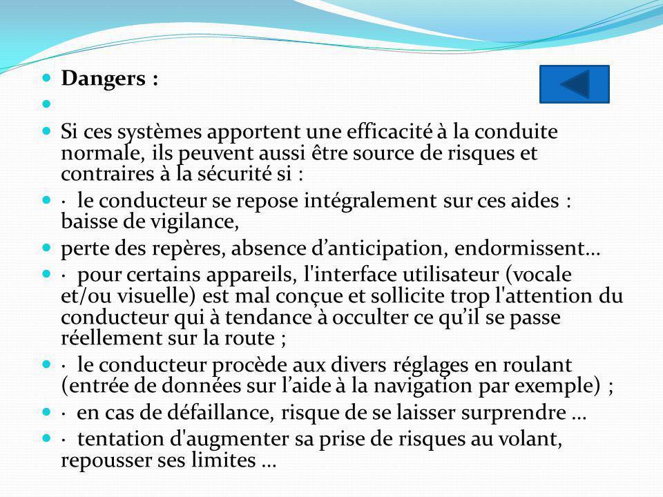 Dangers :