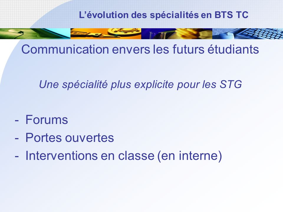 Communication envers les futurs étudiants