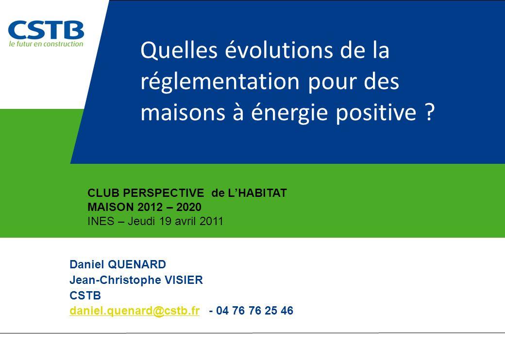 Quelles évolutions de la réglementation pour des maisons à énergie positive