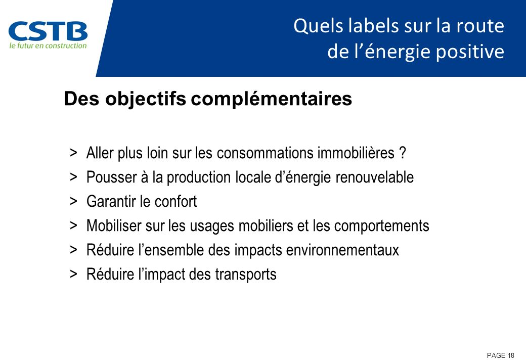 Quels labels sur la route de l'énergie positive