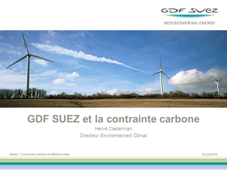 GDF SUEZ et la contrainte carbone