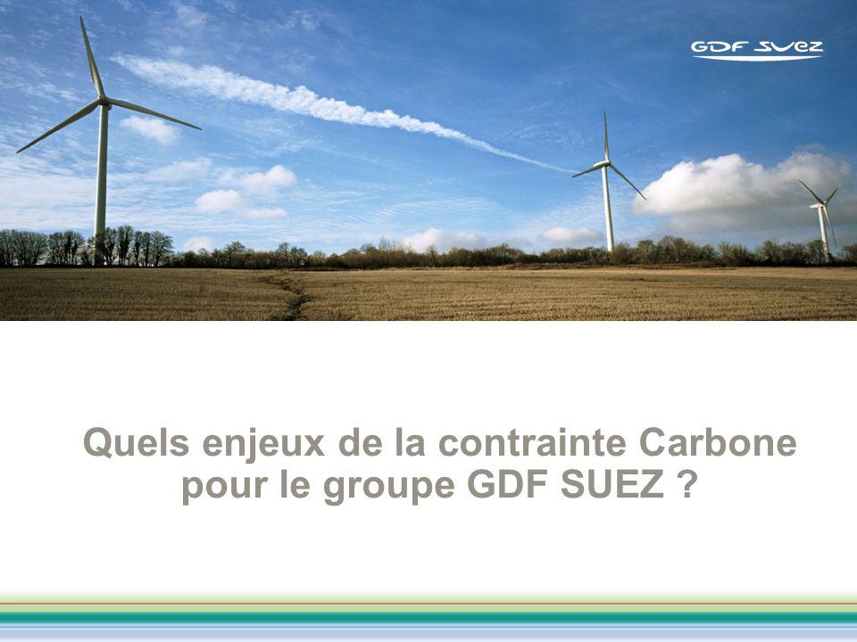 Quels enjeux de la contrainte Carbone pour le groupe GDF SUEZ