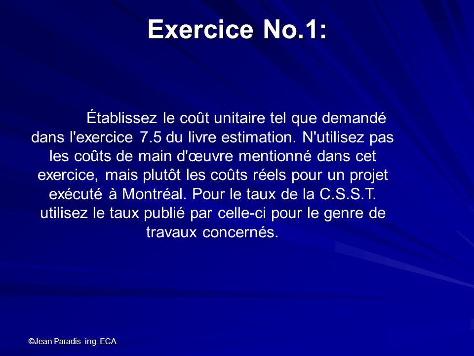 Exercice No.1: