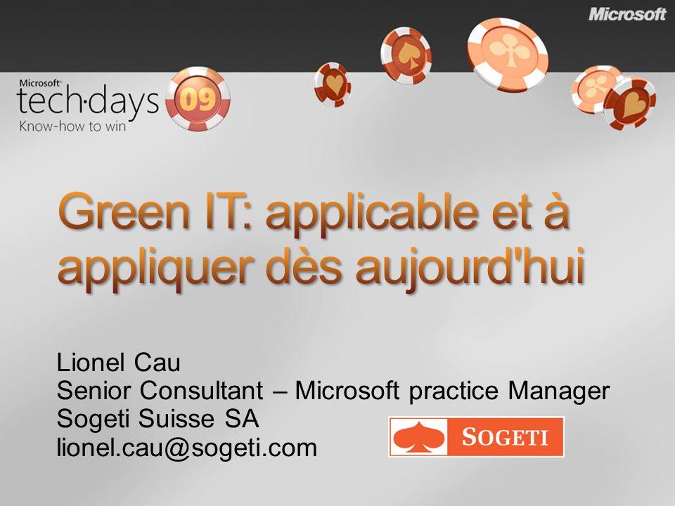 Green IT: applicable et à appliquer dès aujourd hui