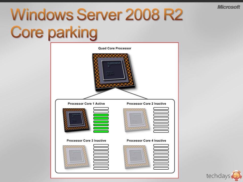 Windows Server 2008 R2 Core parking