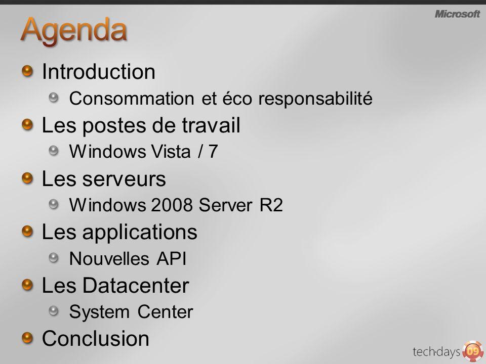 Agenda Introduction Les postes de travail Les serveurs