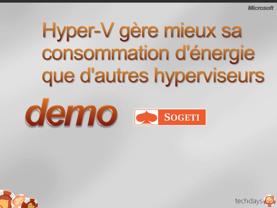 Hyper-V gère mieux sa consommation d énergie que d autres hyperviseurs