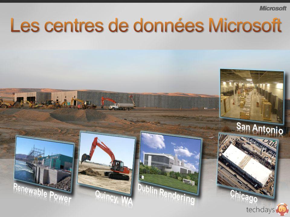 Les centres de données Microsoft