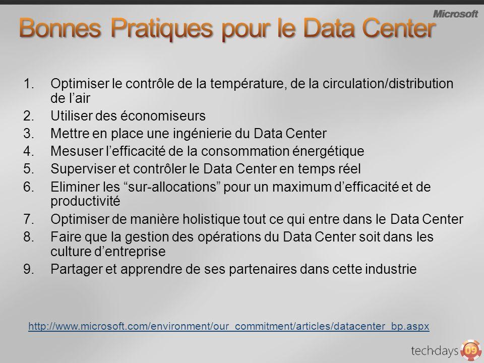 Bonnes Pratiques pour le Data Center