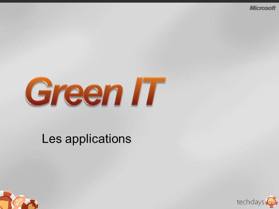 Green IT Les applications