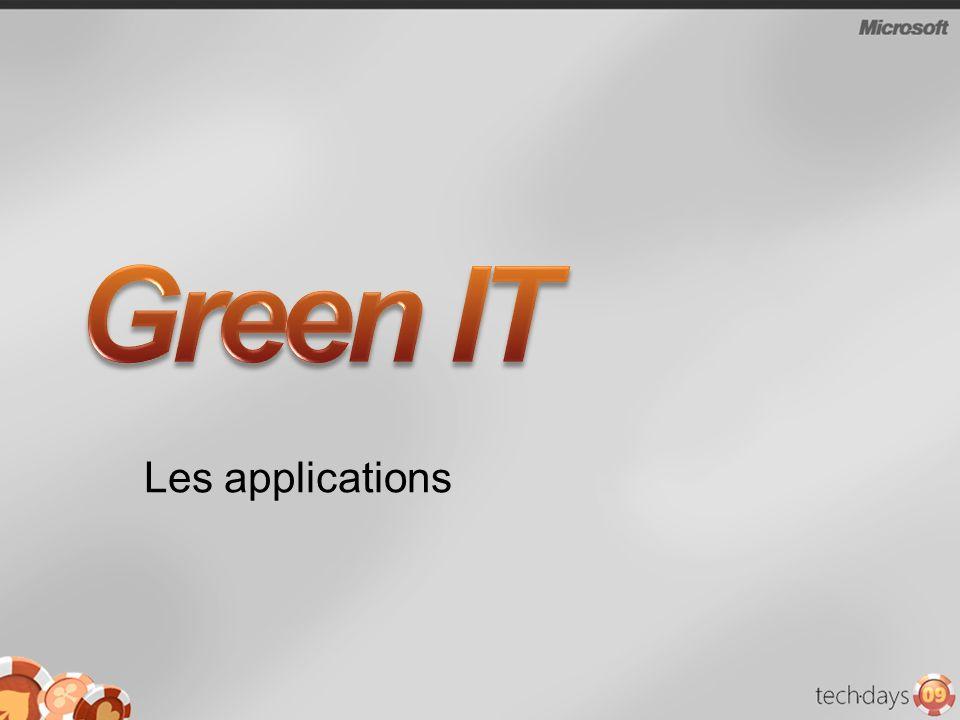 Green IT Les applications