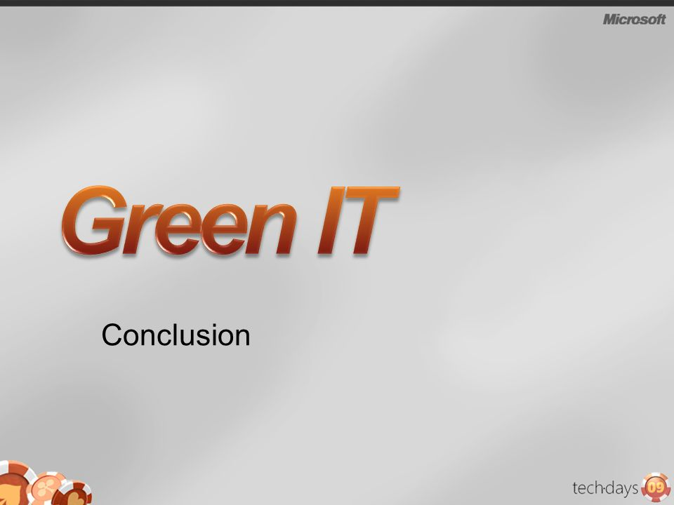 Green IT Conclusion