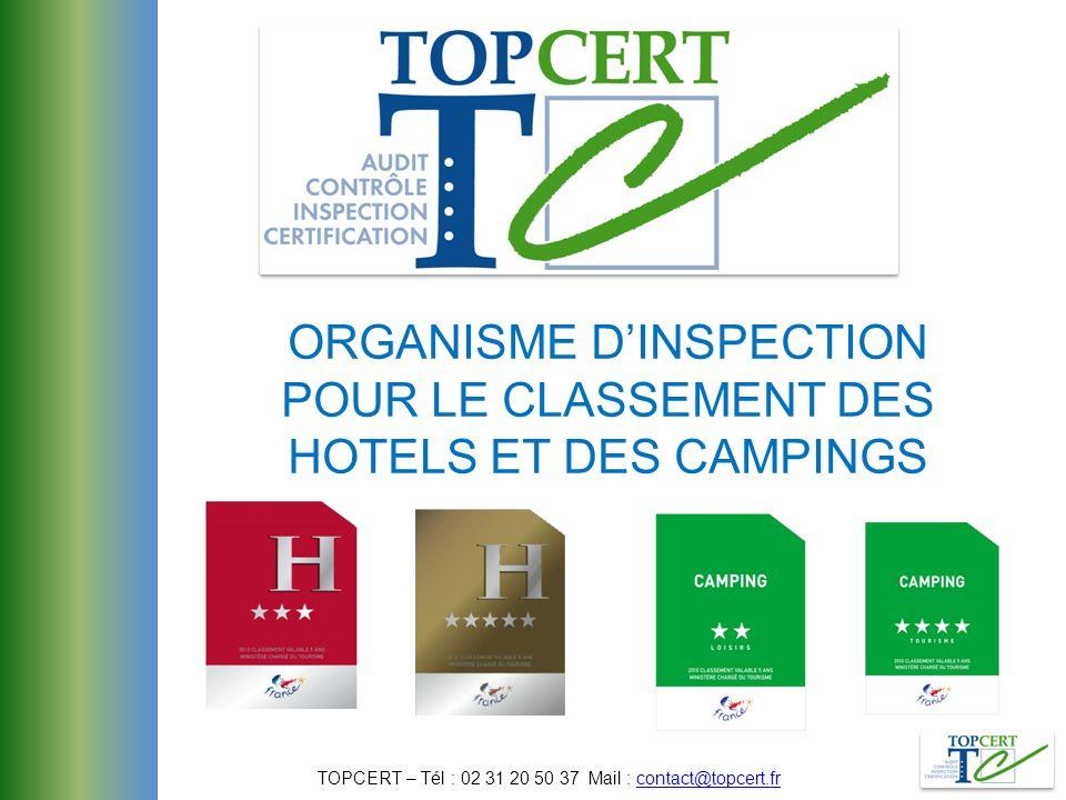 ORGANISME D'INSPECTION POUR LE CLASSEMENT DES HOTELS ET DES CAMPINGS