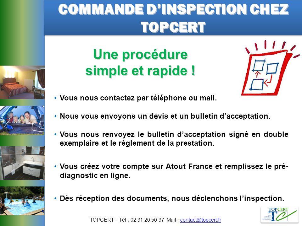 COMMANDE D'INSPECTION CHEZ TOPCERT