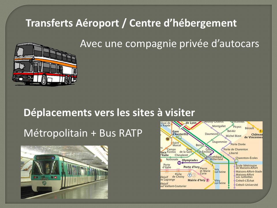 Transferts Aéroport / Centre d'hébergement