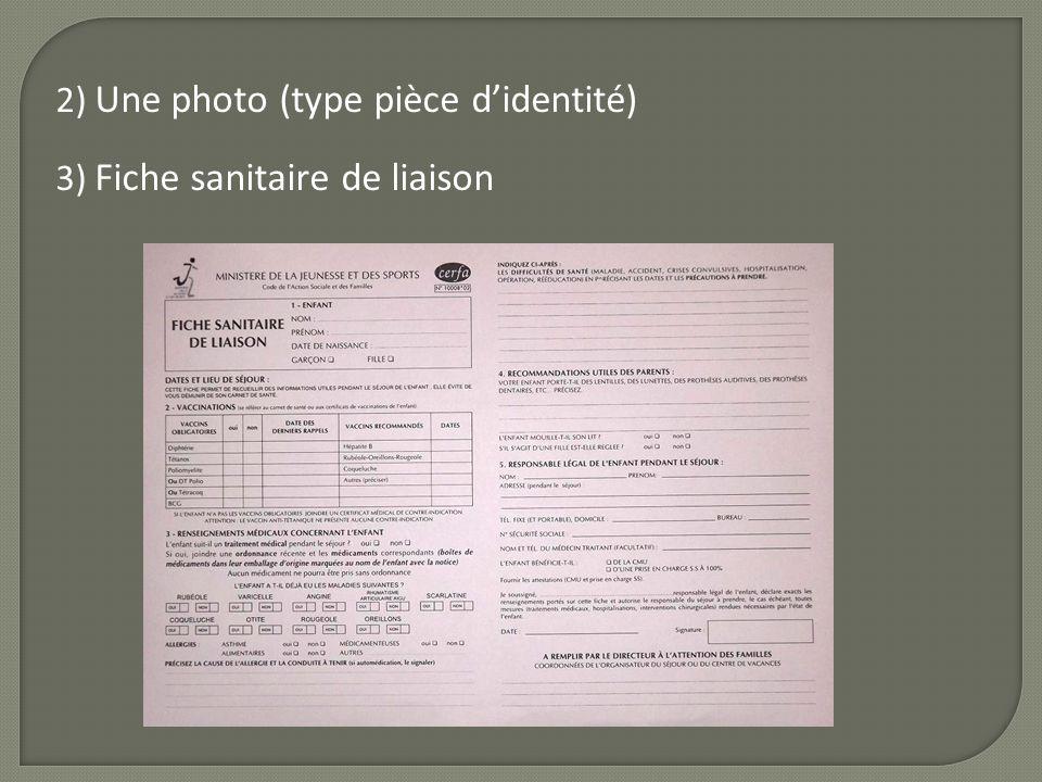 2) Une photo (type pièce d'identité)