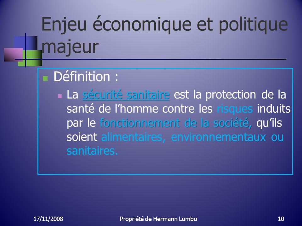 Enjeu économique et politique majeur