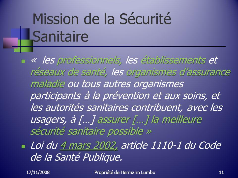 Mission de la Sécurité Sanitaire