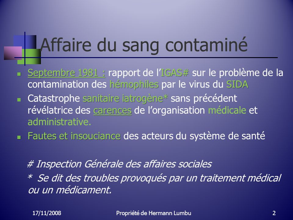Affaire du sang contaminé