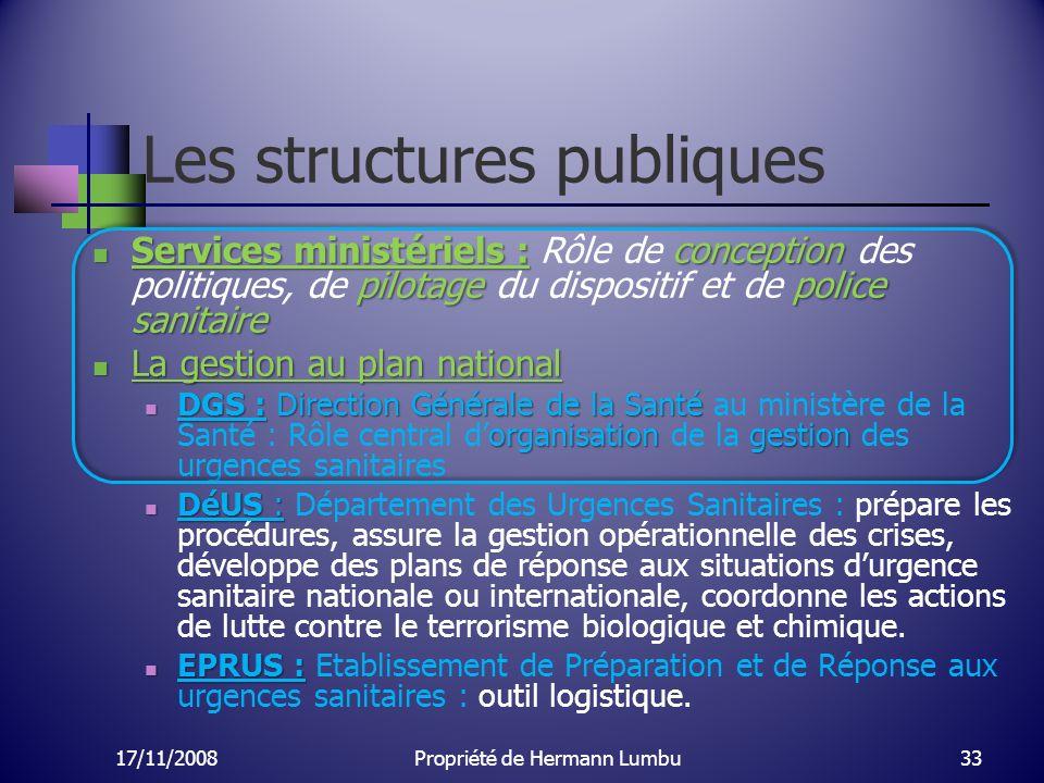 Les structures publiques