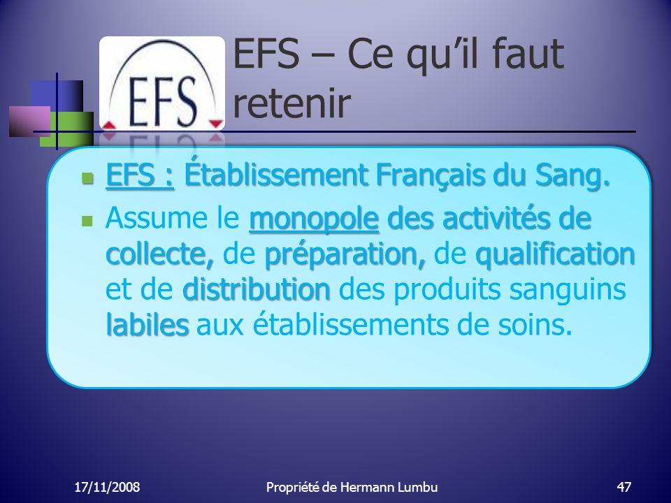 EFS – Ce qu'il faut retenir