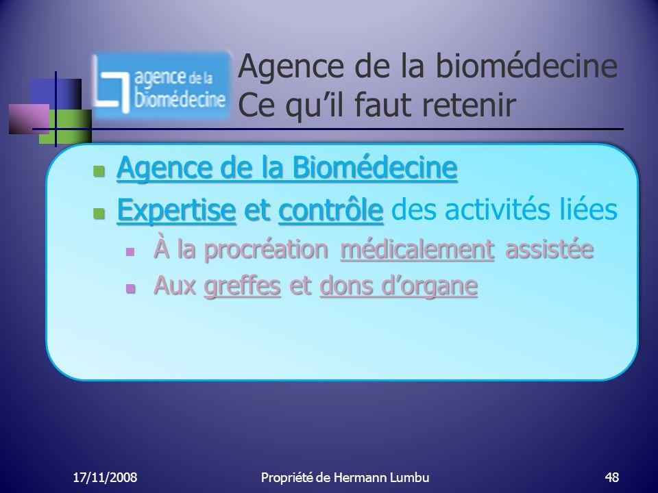 Agence de la biomédecine Ce qu'il faut retenir