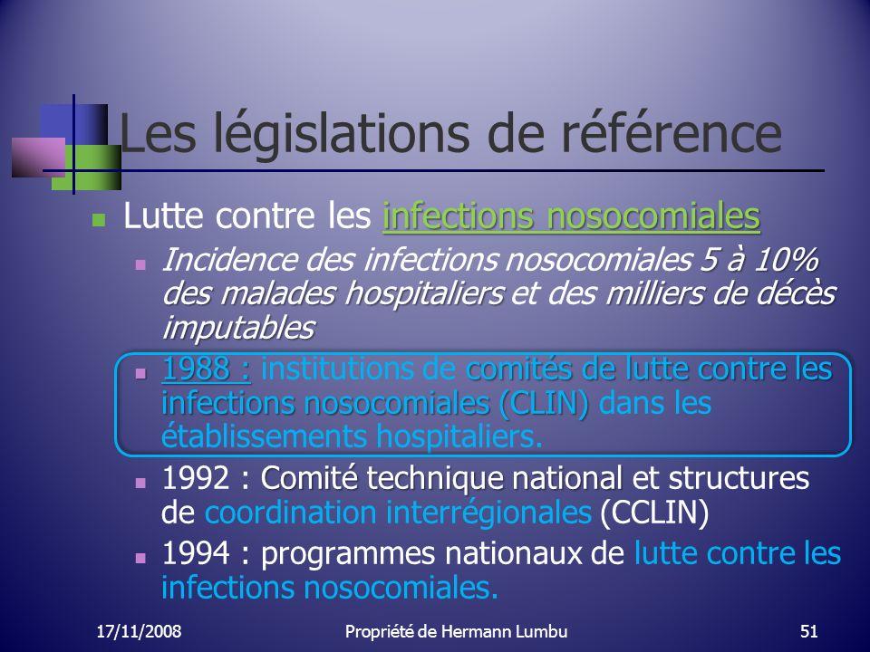 Les législations de référence