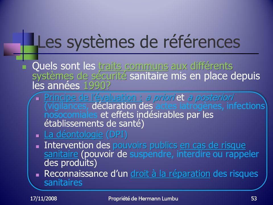 Les systèmes de références