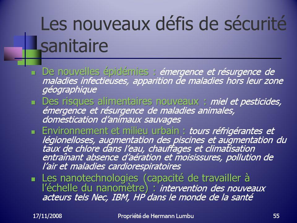 Les nouveaux défis de sécurité sanitaire